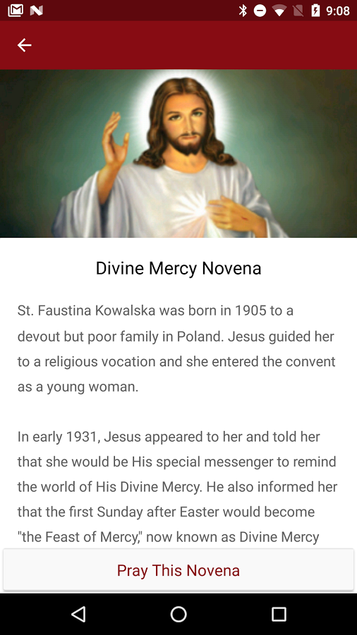 Divine Mercy Novena App Screenshot