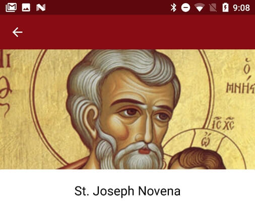 St. Joseph App Screenshot